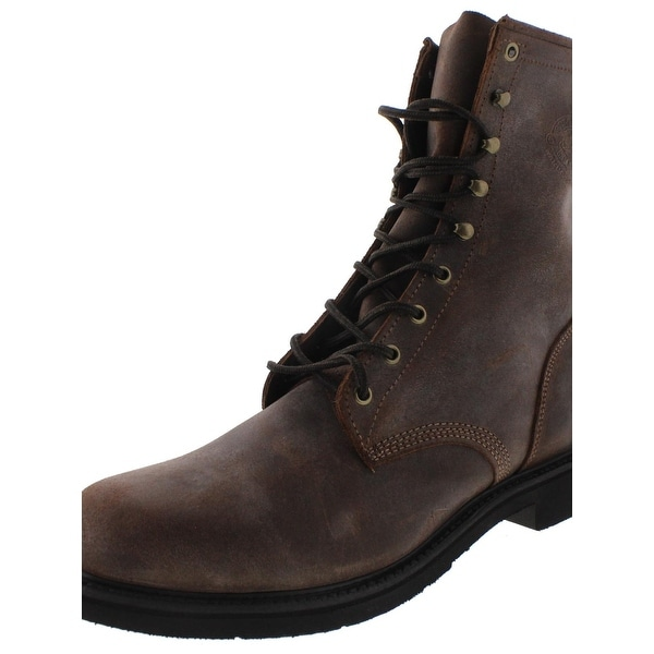 Justin Original Work Boots Mens Work Boots Leather Lace Up