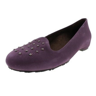 Dr. Andrew Weil Womens Chelsea Suede Studded Smoking Loafers