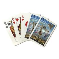 Seattle Vs. the Giant Crabs - LP Artwork (Poker Playing Cards Deck)