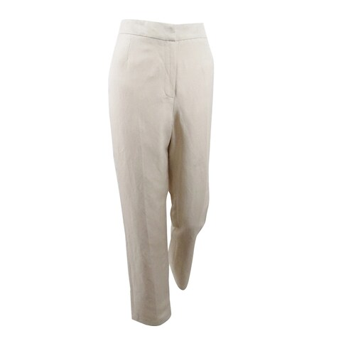 Kasper Women's Linen Straight-Leg Pants - Flax