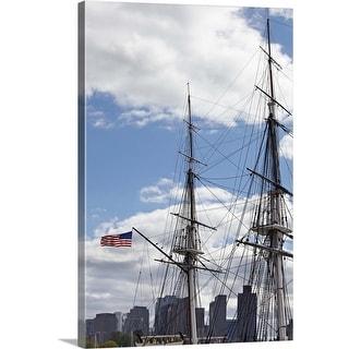 """Rigging of the SS Constitution Ship, Boston Harbor, Massachusetts"" Canvas Wall Art"