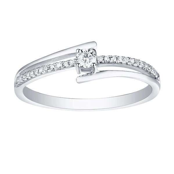 Prism Jewel 0.15ct Round Cut Natural G-H/I1 Diamond Light Weight Fancy Ring - White G-H