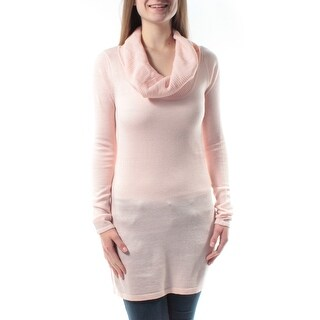 ENERGIE Pink Cowl Neck Long Sleeve Sweater Juniors L B+B