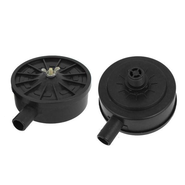 Unique Bargains 2pcs Air Compressor Repair Part 20mm Thread Silencer Muffler Black