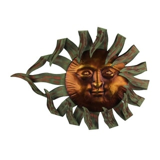 Two Tone Metal Celestial Sun Wall Sculpture - 34 X 34 X 1.25 inches