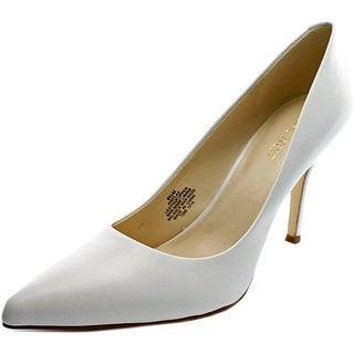 Nine West Flax Women Pointed Toe Leather White Heels