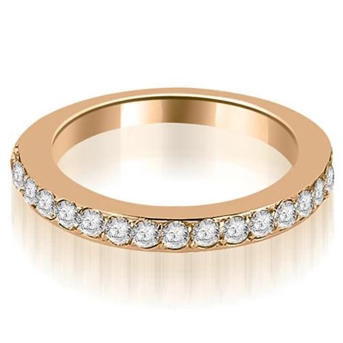 0.60 cttw. 14K Rose Gold Round Cut Diamond Wedding Band