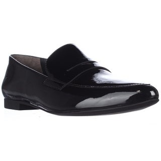 Paul Green Ellie Pointed Toe Loafer Flats, Black Patent