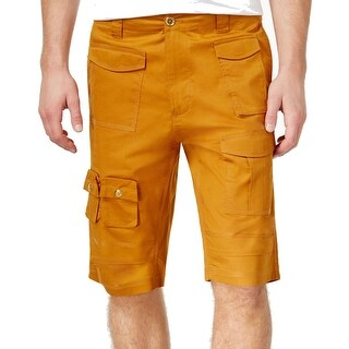 Sean John NEW Warm Gold Mens Size 32 Button-Front Cargo Flight Shorts