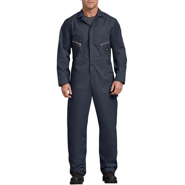 Dickies Men's Deluxe Medium Short Dark Navy Long Sleeve Blended Coveralls