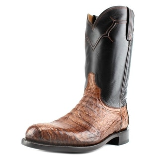 Lucchese Dustin Caiman Men Round Toe Leather Multi Color Western Boot