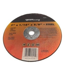 "Forney 72318 Cutting Disc, 7"" x 1/16"" x 5/8"""