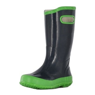 Bogs Boots Boys Kids Rainboot Solid Rubber Waterproof Navy