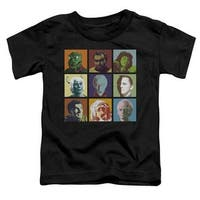 Star Trek-Alien Squares - Short Sleeve Toddler Tee - Black,