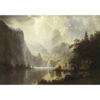 ''In the Mountains'' by Albert Bierstadt Museum Art Print (30 x 40 in.)