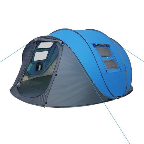 4-6 Person Pop Up Tents, Instant Automatic Family Waterproof Camping Tents for Camping, Hiking and Traveling