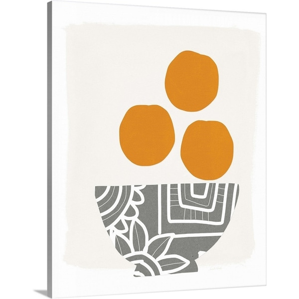 """Bowl of Oranges"" Canvas Wall Art"