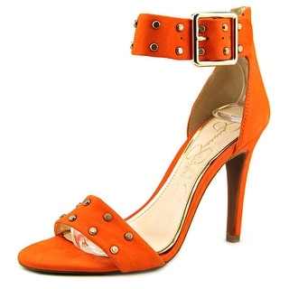 Jessica Simpson Elonna 2 Women Open-Toe Leather Orange Heels