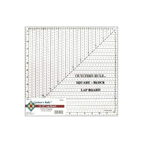 "Quilter's Rule Lap Board Ruler 12.5"" Square Black"