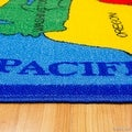 "Thumbnail 2, AllStar Rugs Kids / Baby Room Area Rug. USA Map. Fifty States. Bright Colorful Vibrant Colors (4' 11"" x 6' 11""). Changes active main hero."