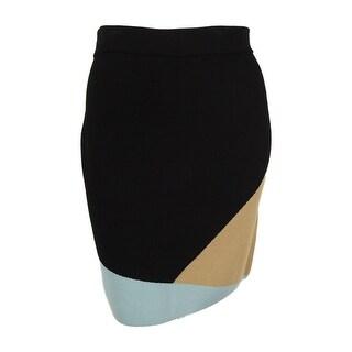 Alfani Women's Colorblock Pull-On Pencil Skirt - geometric