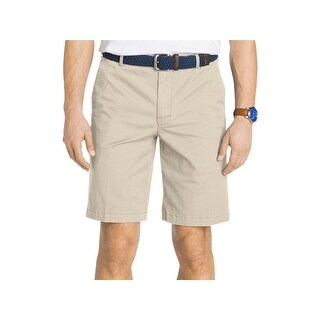 Izod Mens Casual Shorts Twill Relaxed
