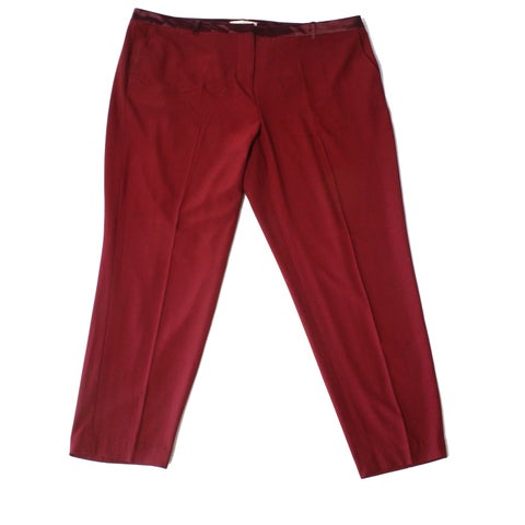 Sejour NORDSTROM Red Womens Size 18W Plus Dress Pants Stretch