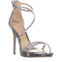 Jewel by Badgley Mischka Galen Ankle Strap Sandals, Silver Glitter