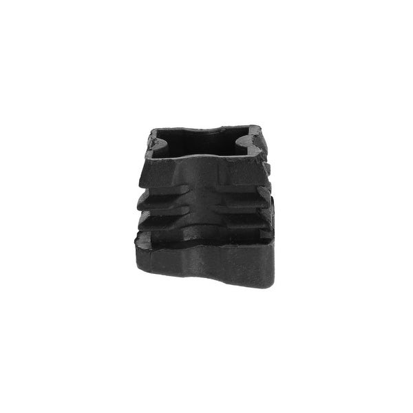 25 x 25mm OD Plastic Angled Square Tube Ribbed Inserts Cover Cap