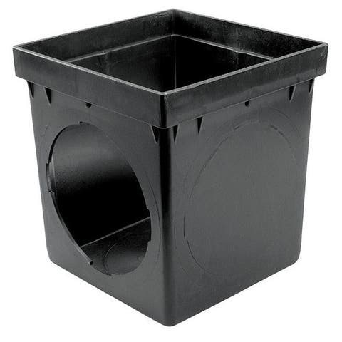 Nds 900 Square Catch Basin, Black, 9.5""