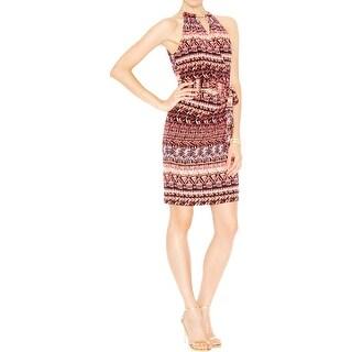 Jessica Simpson Womens Casual Dress Printed Sleeveless