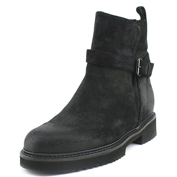 Vince Claudia Women Round Toe Suede Black Boot