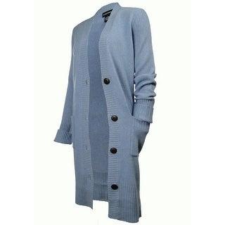 Sutton Studio Women's Cashmere Blend Tweed Sweatercoat (Medium) - MEDIUM