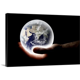 """World in hand"" Canvas Wall Art"