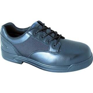 S Fellas by Genuine Grip 5040 Slip-Resistant Apache Work Shoe Black Leather