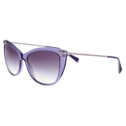 086f2b675afa3 Versace VE4345B 516036 Transparent Violet Cat Eye Sunglasses - No Size