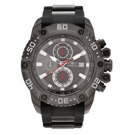 Invicta Men's 21777 'Pro Diver' Grey Ion-plated Chronograph Polyurethane Strap Watch