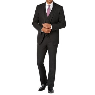 Kenneth Cole Reaction NEW Black Mens Size 36 Two Button Notched Suit