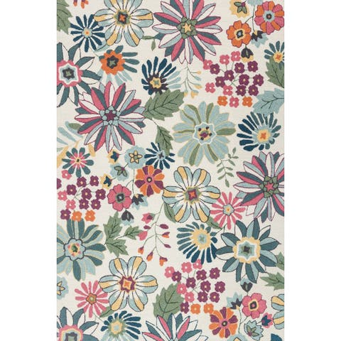 "Alexander Home Charlotte Hand-hooked Floral Area Rug - 2'3"" x 3'9"""