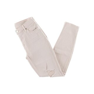 7 For All Mankind Womens Colored Skinny Jeans Ripped Mid-Rise