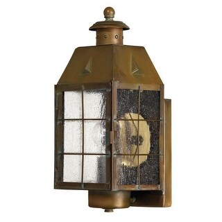 """Hinkley Lighting H2370 13.5"""" Height 1 Light Lantern Outdoor Wall Sconce from the Nantucket Collection"""