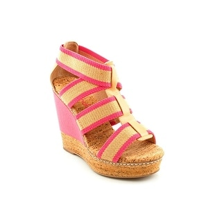 Splendid Klever Women Open Toe Canvas Wedge Sandal