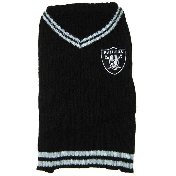 NFL Oakland Raiders V-Neck Sweater