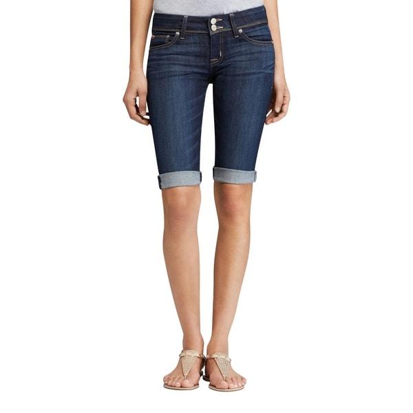 Hudson Womens Palerme Bermuda Shorts Cuffed