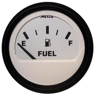 """Faria Euro White 2"""" Fuel Level Gauge (E-1/2-F) Gp9358 - 12901"""