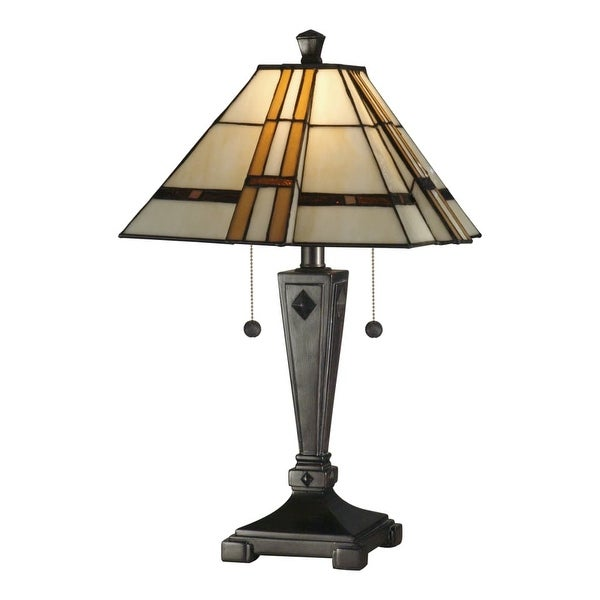 Dale Tiffany TT11051 Atherton Table Lamp with 2 Lights - mica bronze - n/a