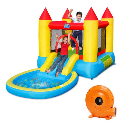 Gymax Inflatable Bounce House Kids Slide Jumping Castle Bouncer w/Pool - See Details