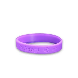 Animal Opt To Adopt Silicone Child Size Bracelets
