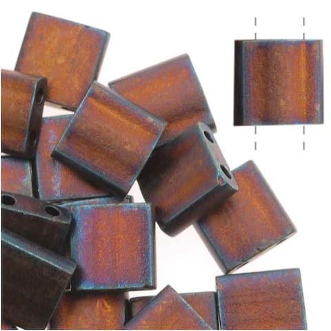 Miyuki Tila 2 Hole Square Beads Matte Metallic Copper 7.2 Grams