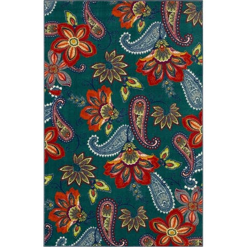 Mohawk Home Whinston Paisley Floral Area Rug